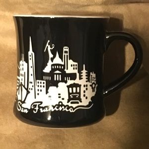 SAN FRANCISCO Laser Stencil Cafe Style Coffee Cup